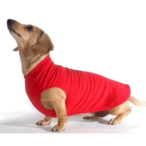 Cherry Red Noodle Stroodle Dachshund Sweater