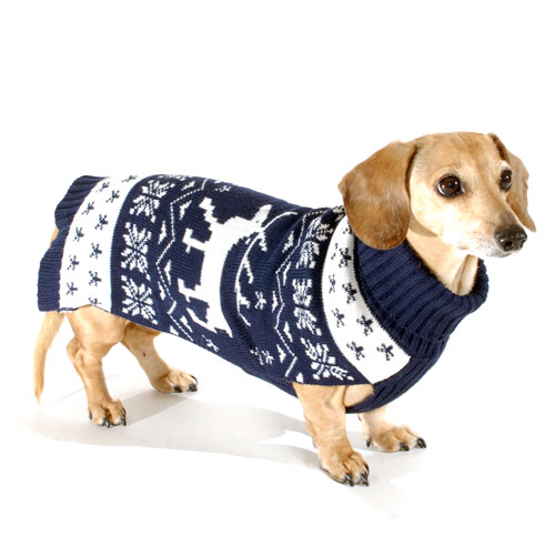 Reindeer DoxiFit DreamKnit Wool-Blend Dachshund Sweater